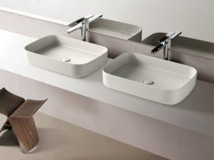 doppio lavabo da appoggio bagno sanitari Ceramica Cielo Shui Comfort