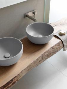 doppio lavabo pomice da appoggio bagno sanitari Ceramica Cielo Shui Comfort