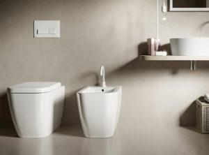 Hatria, serie Bianca, lavabo, wc e bidet