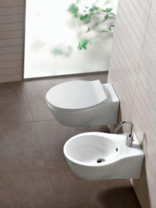 Sanitari Hatria Nido wc e bidet sospesi