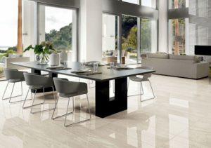 Italgraniti pavimenti rivestimenti salone effetto marmo