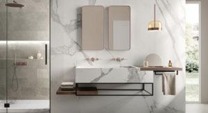 Italgraniti pavimenti rivestimenti bagno effetto marmo