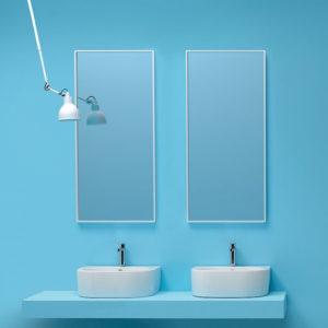 Serie Flo by Kerasan sanitari, coppia lavabo
