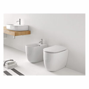 Serie Nolita by Kerasan sanitari, lavabo con wc e bidet da appoggio