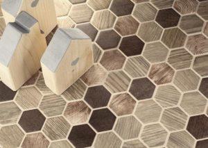 mosaici torino, tassello esagonale, boxer mosaici