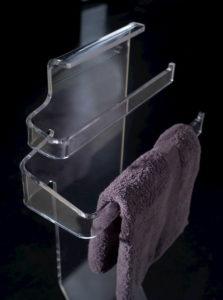 porta salviette in plexiglass, accessori bagno, Caos